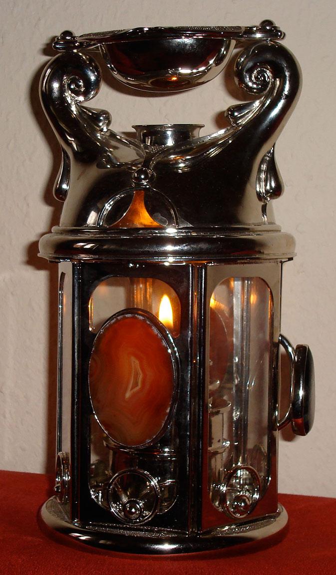 duftlampe handarbeit unikat metall
