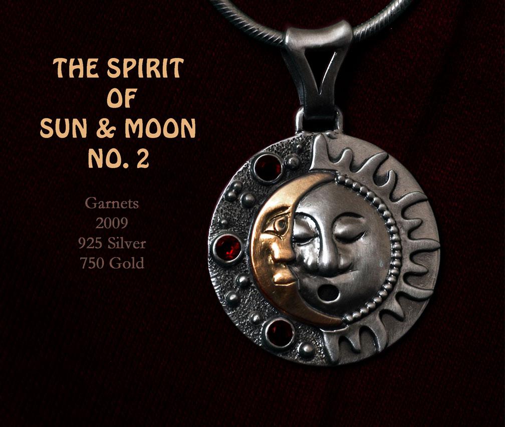 Anhänger Mond und Sonne
