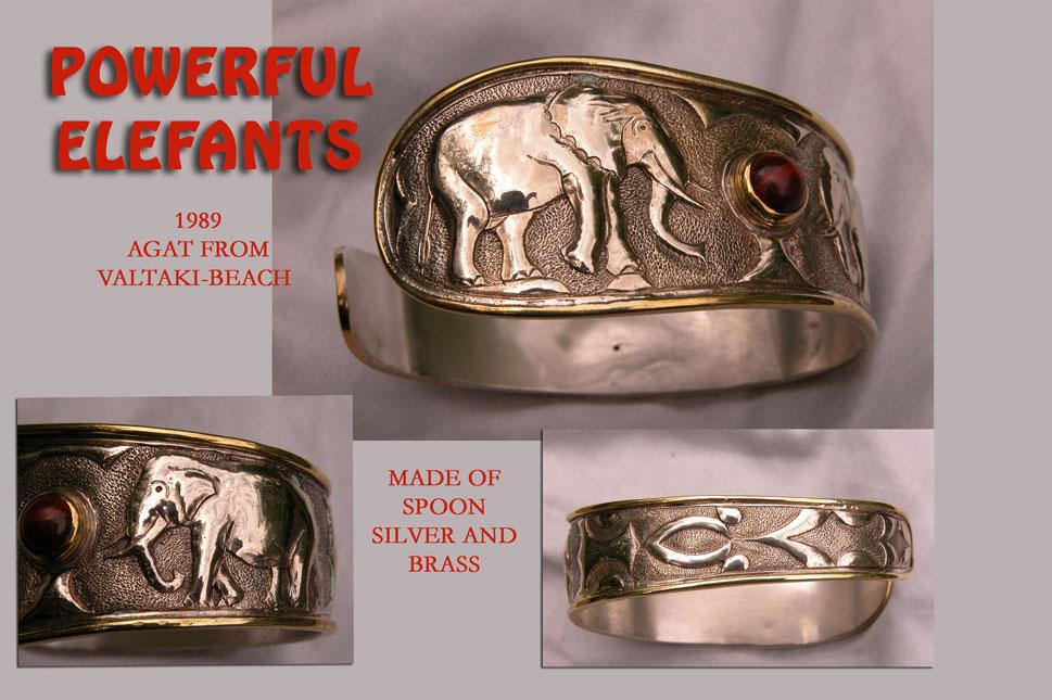 unikatarmband silber elefant