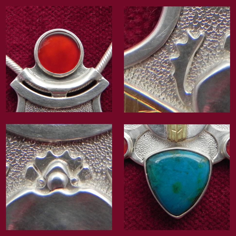 Details des Silbernen Skarabäus