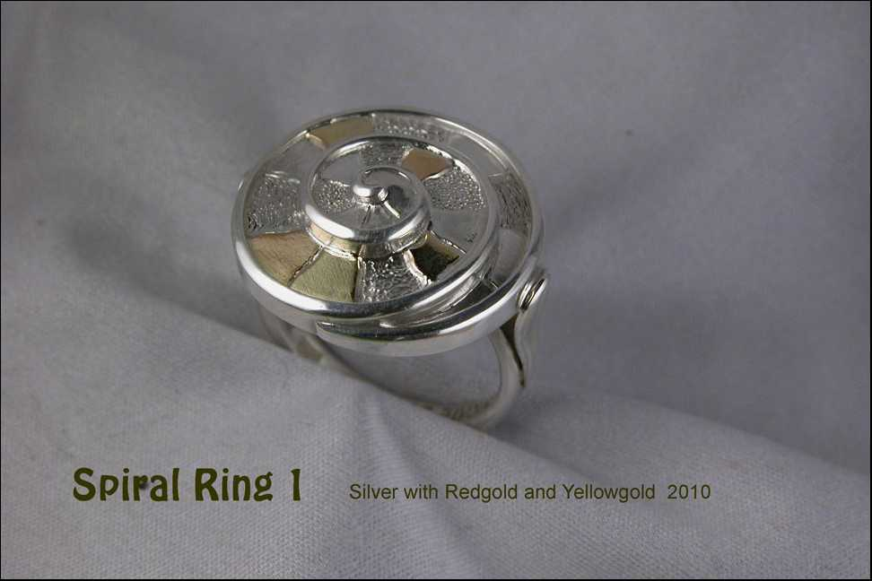 unikatring silber gold spirale designerring