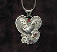silverpendant with flying bird