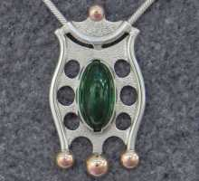 Silverpendant with beautiful Tourmaline
