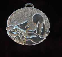 unikatschmuck wolf silber